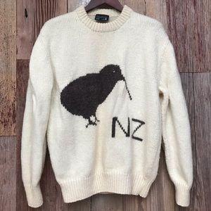 New Zealand Kiwi Wool Sweater XL